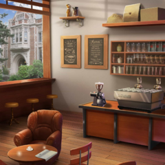 Campus Coffee Shop - Day