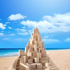 Modern sand castle as seen in Ch.4