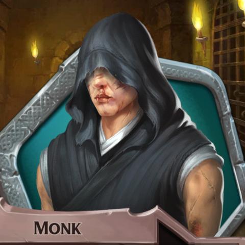Injured monk