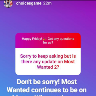 New Update regarding Most Wanted 2 from Insta
