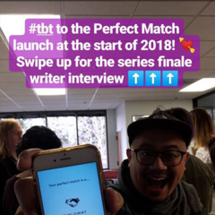 Throwback to the launch of the <i>Perfect Match</i> series in early 2018