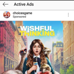 WT on the Ad section for the Choices IG page
