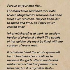 Pirate Queen warning