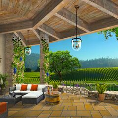 Patio overlooking Russo vineyards