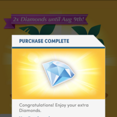 Diamond Specials for the 4.99 and 9.99 (USD) packages