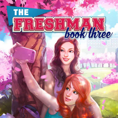 Kaitlyn on the cover of The Freshman, Book 3