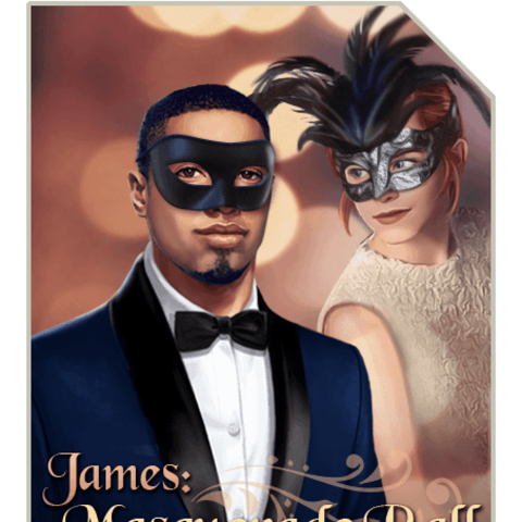 Vanessa on the cover of James: Masquerade Ball