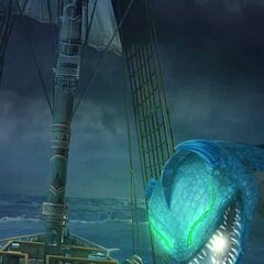 Cetus attacking the ship