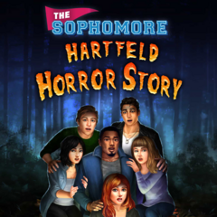 Kaitlyn on the cover of The Sophomore: Hartfeld Horror Story