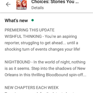 April 22, 2019 Choices App Update ft. WT