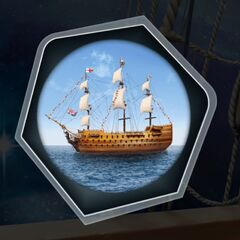 Admiral's Ship through Spyglass