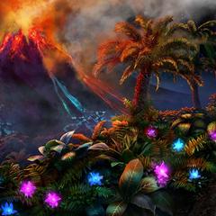 Mt. Atropo erupting