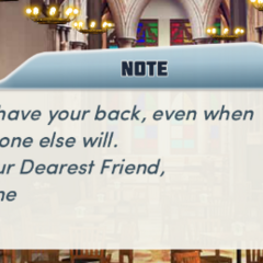 Kane's Note to MC in Ch. 3 after Keychain enlarges