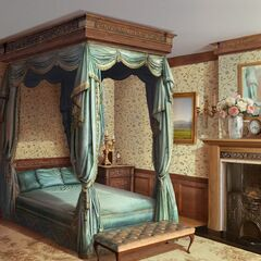 Your character's bedroom in London house (Day)