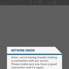 Network Error Message