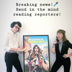 WT Writers Next to Poster 04/24/19