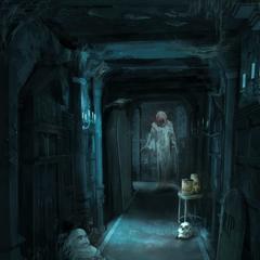 Haunted House hallway in Enchantland
