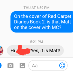 Matt on the Cover of Book 2