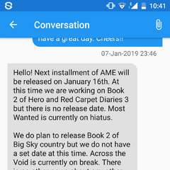 Info on Release Date via the App