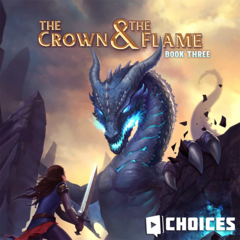 Kenna on the cover of The Crown & The Flame, Book 3