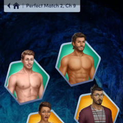 Male Face 3 Hayden, Damien, Sloane and Khaan in PM 2 Ch. 9