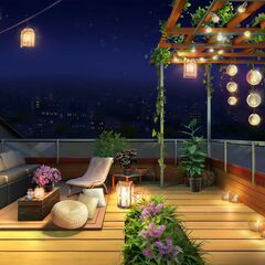 Dorm Rooftop at night (Book 1)