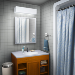 MC's Dorm suite bathroom in <i>The Elementalists</i>