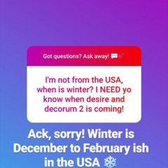 When is Winter? from Q&A