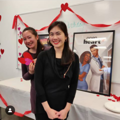 Kara & Jennifer next to OH/ROD Posters @ PB Feb 2019 Party