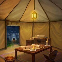 Kenna's command tent (Night)