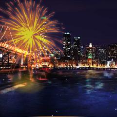 Prom fireworks display