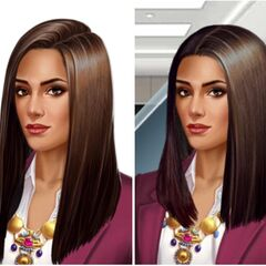 Kamilah's Hair: Before and After due to glitch
