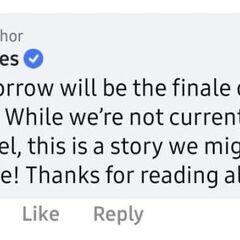 Confirmation that Ch. 17 is the finale