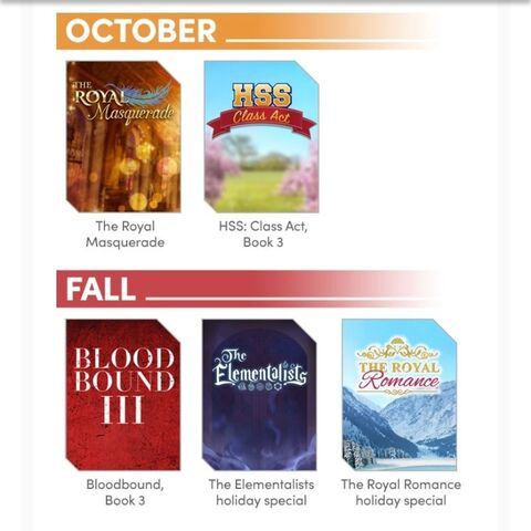 Choices Insider (October Edition) - Release Schedule