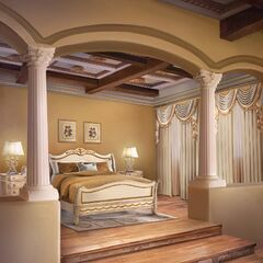 Bedroom in Russo villa