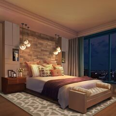 Bedroom in Penthouse option (Nighttime)