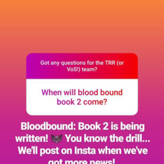Bloodbound, BK 2 Status report