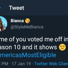 Bianca discussing her potential elimination on Season 10