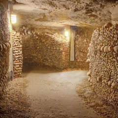 Full View of Paris Catacombs