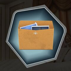 Possible Clue: Manila envelope with photos of David