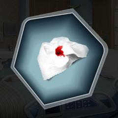 Dr. Banerji's bloody handkerchief in Ch. 11
