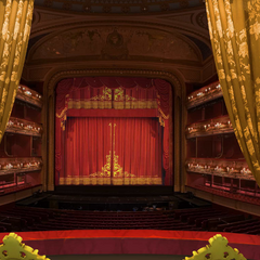 View of the stage at Opera St. James