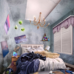 Gemma's Thrashed Room in Elise's Home