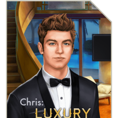 Chris on the cover of Chris: Luxury Getaway