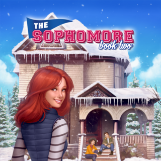 Abbie on the cover of The Sophomore, Book 2