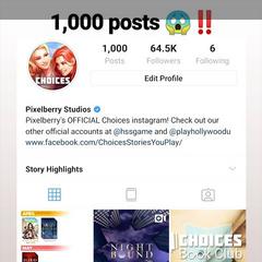 PB Celebrating their 1K post on IG