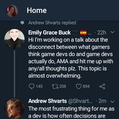 Game Devs information via Twitter