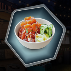 Food truck poke bowl