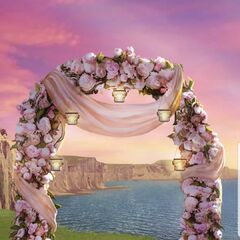 Premium Blush Pink Flowers Arch