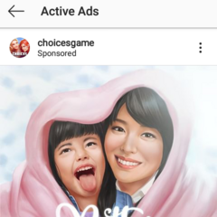 As seen on Choices IG Active Ads Section